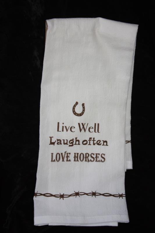 Tea Towel - Live, Laugh, Love