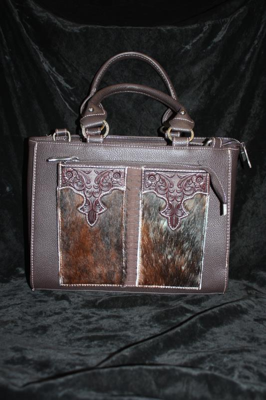 Trinity Ranch Hair-On Tote - Brown
