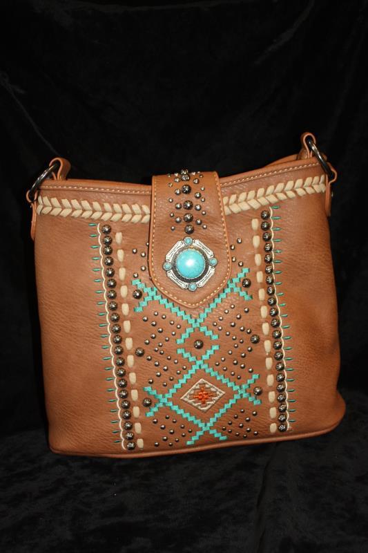 Montana West Handbag - Aztec Brown