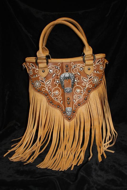 Montana West Handbag - Embroidered with Buckle