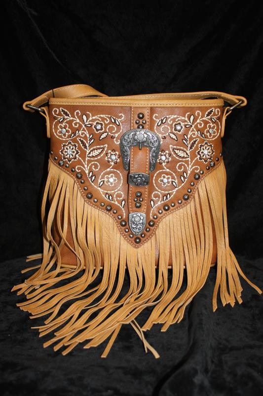 Montana West Crossbody - Embroidered with Buckle