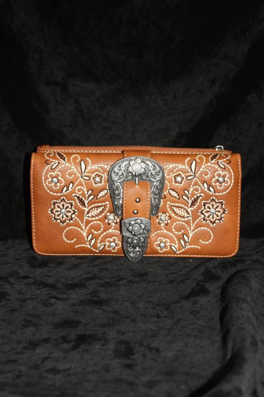 Montana West Wallet - Embroidered with Buckle