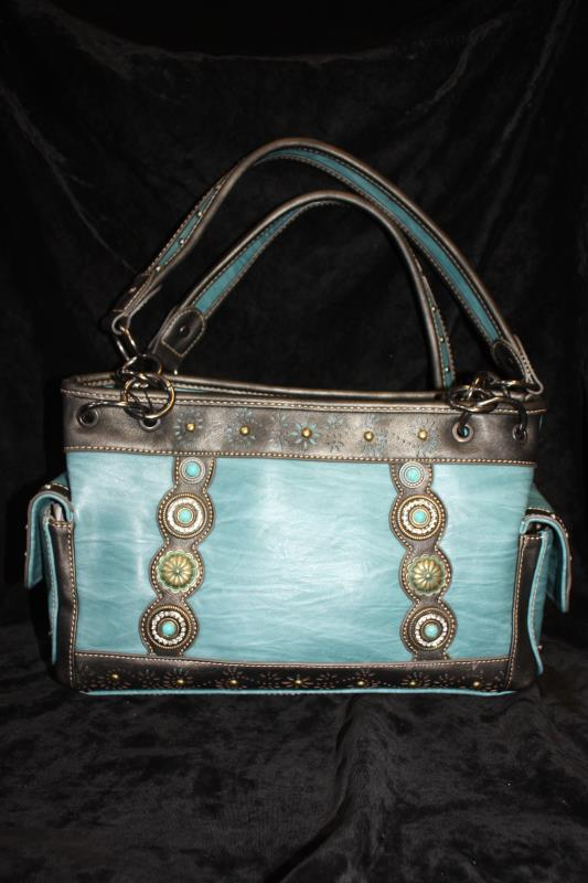 Montana West Turquoise with Conchos Handbag
