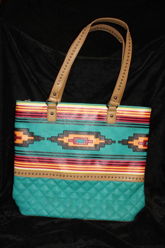 MW Aztec Tote - Turquoise