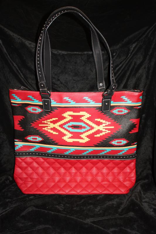 MW Aztec Tote - Red