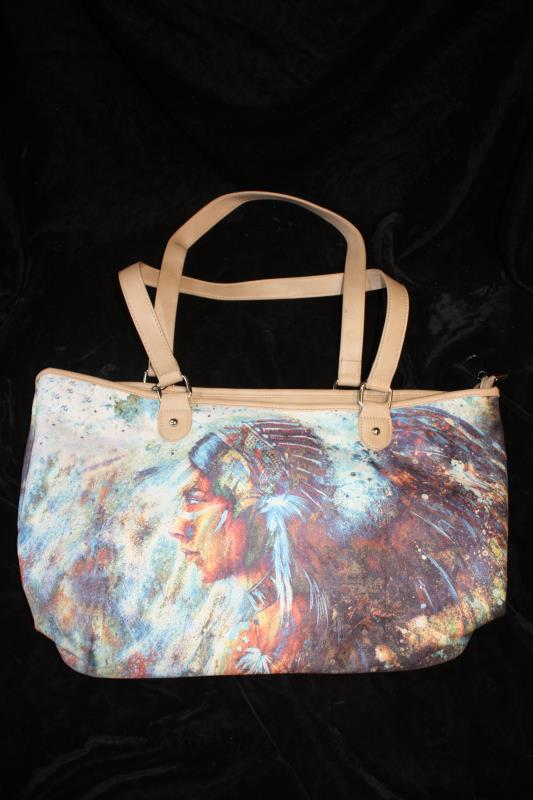 MW Printed Cotton Wide Tote - Chieftess