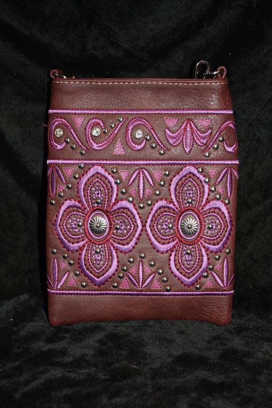 American Bling Crossbody -  Purple Floral