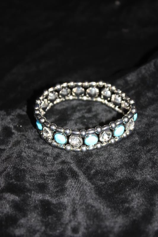 CS - Bracelet with Blue & Clear Stones