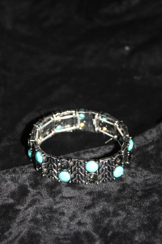 CS - Bracelet with Blue & Green Stones