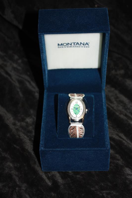 Montana Silversmiths - Watch with Feather in Center
