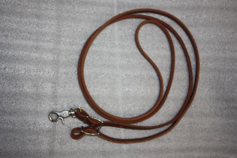 Oiled Leather Roping Rein