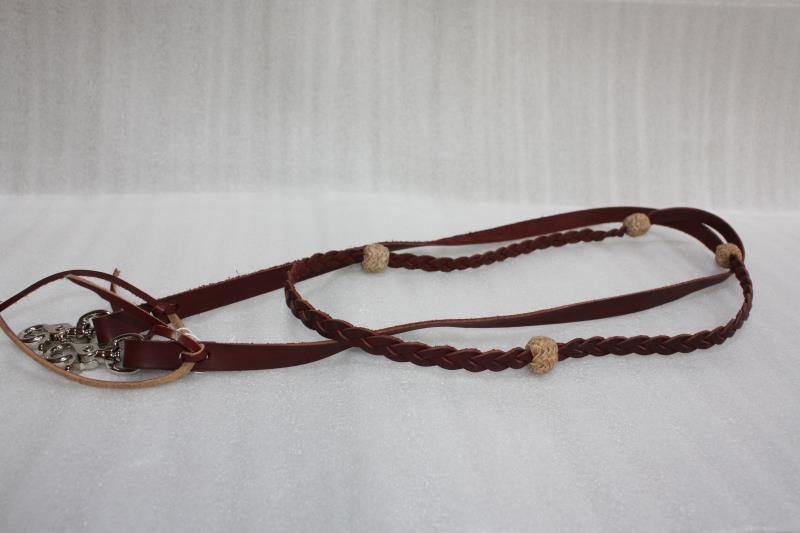 Braided Latigo Leather Rein