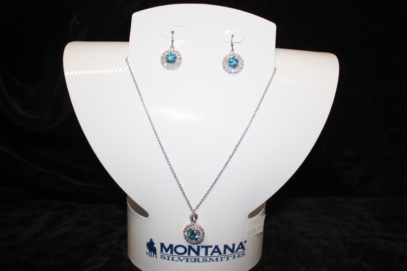 Montana Silversmiths - Round Blue Stone set