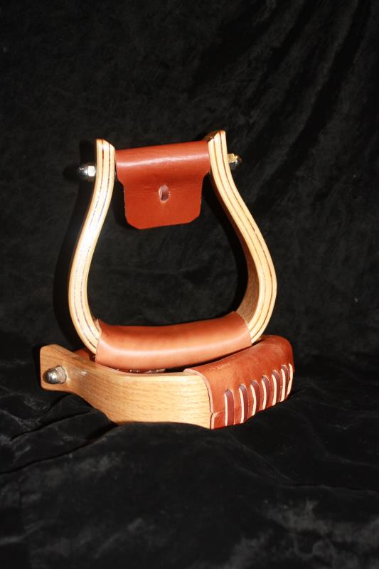 "2"" Oak Wooden Stirrup - Light"