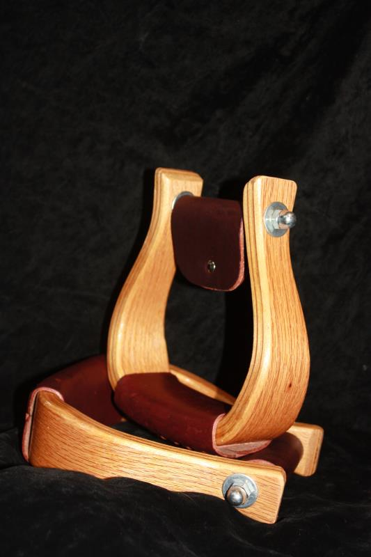 "2"" Oak Wood Stirrups - Dark"