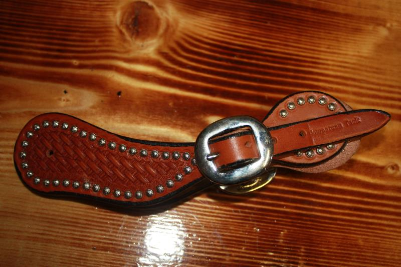 Cowperson Tack - Basketweave with Dots - Spur Straps