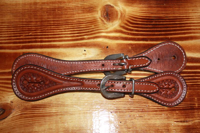 Cody Pro - Youth Tooled Spur Straps