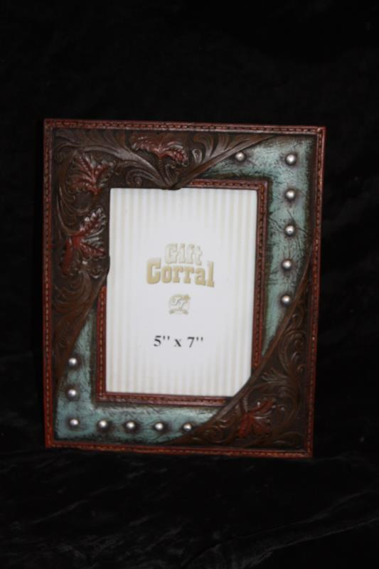 Leather with Studs Picture Frame